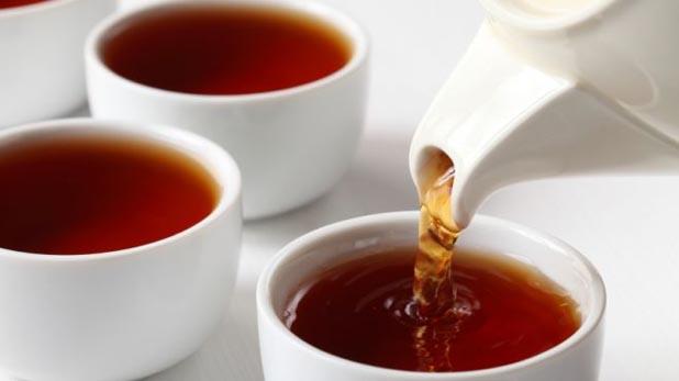 Tea preparation on the table