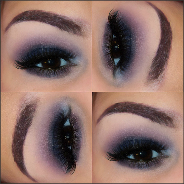 Using a neutral color under the eye and the eyebrows
