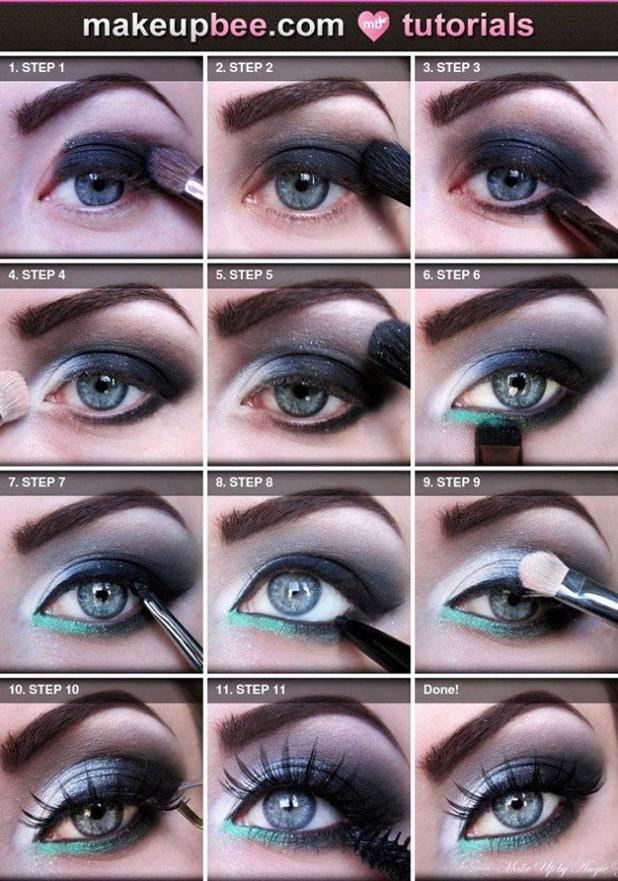 Blue eyes makeup