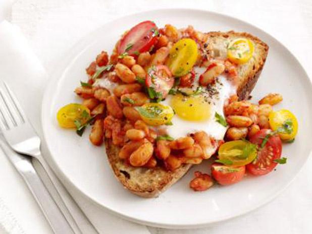 Navy beans on toast