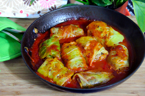Stuffed Cabbage Rolls with Mushroom