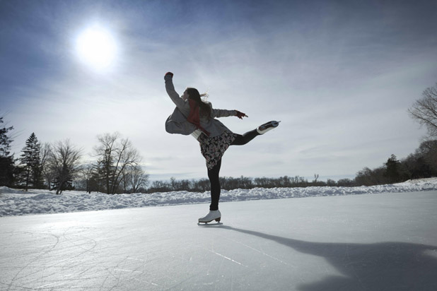 Skating on the ice