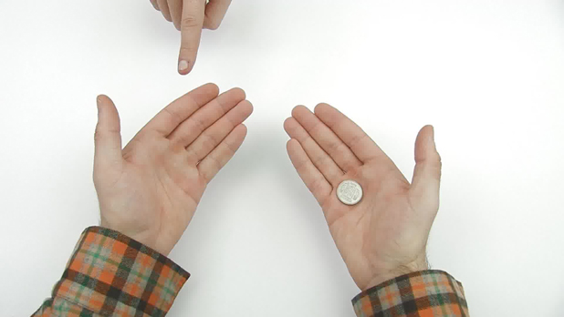 Thumb coin vanish
