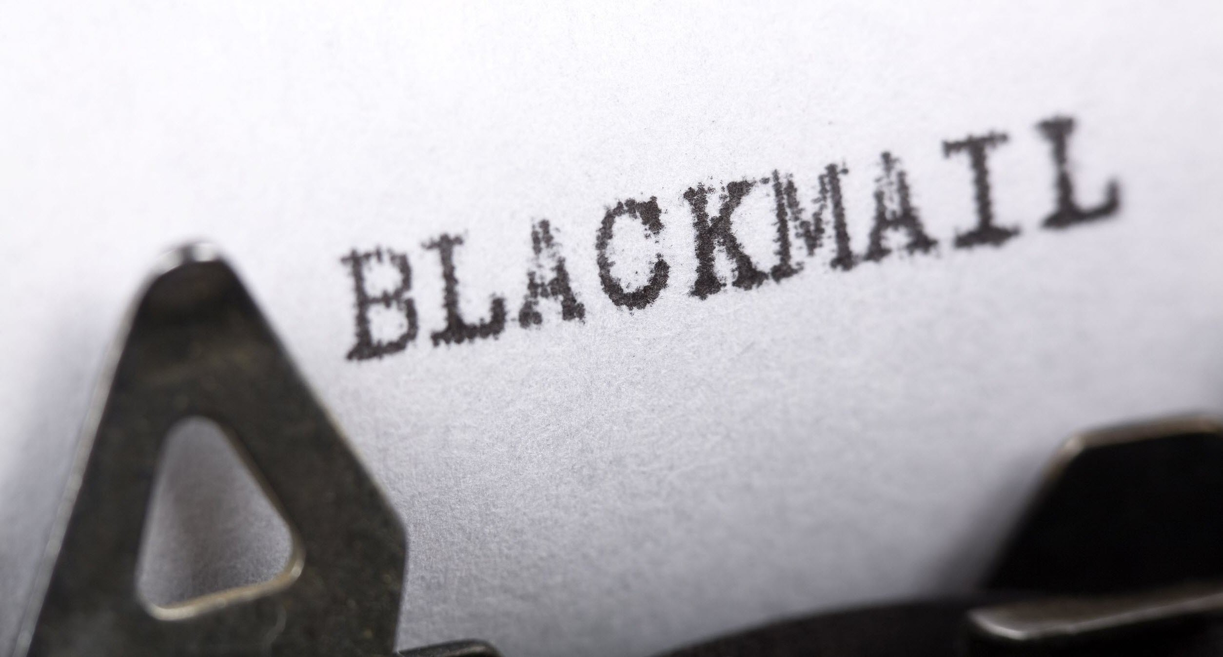 Photo of Blackmail Under Glass